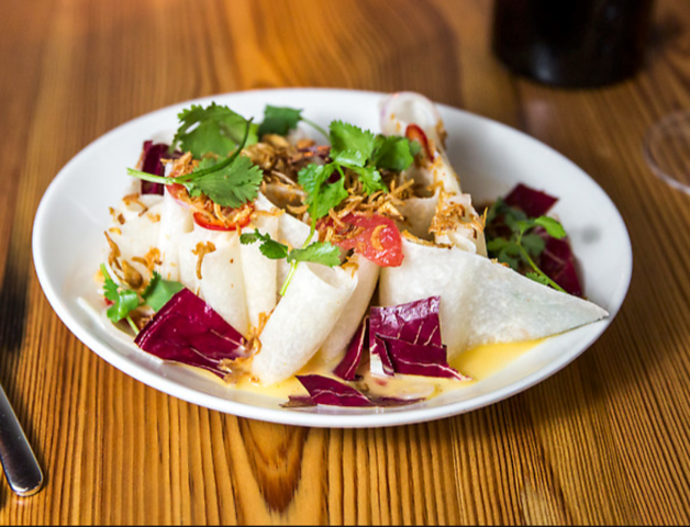 Jicama salad with herbs