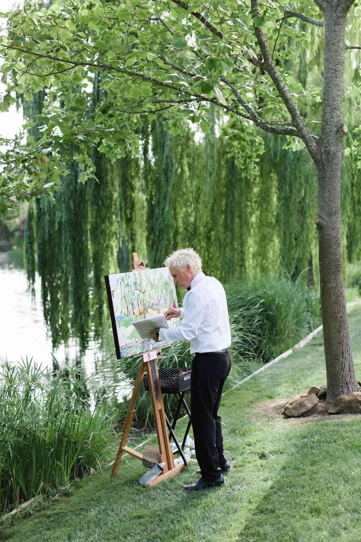 wedding entertainment live painter