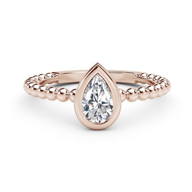 Forevermark Diamond Pear North-South Beaded Ring
