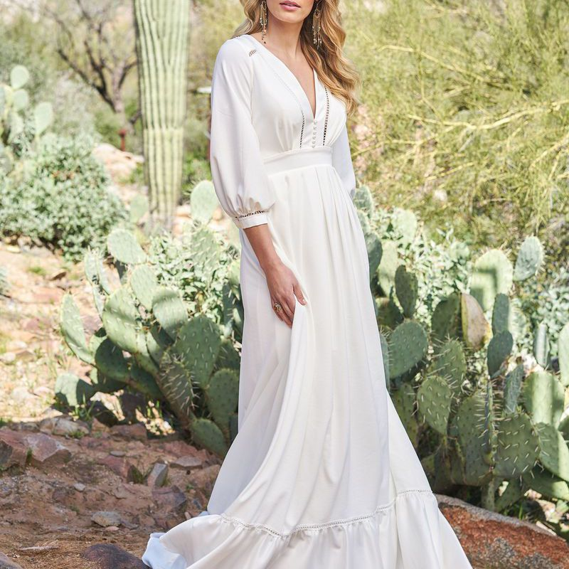 40 Beautiful Bohemian Wedding Dresses That Range From Glamorous To Super Laid Back