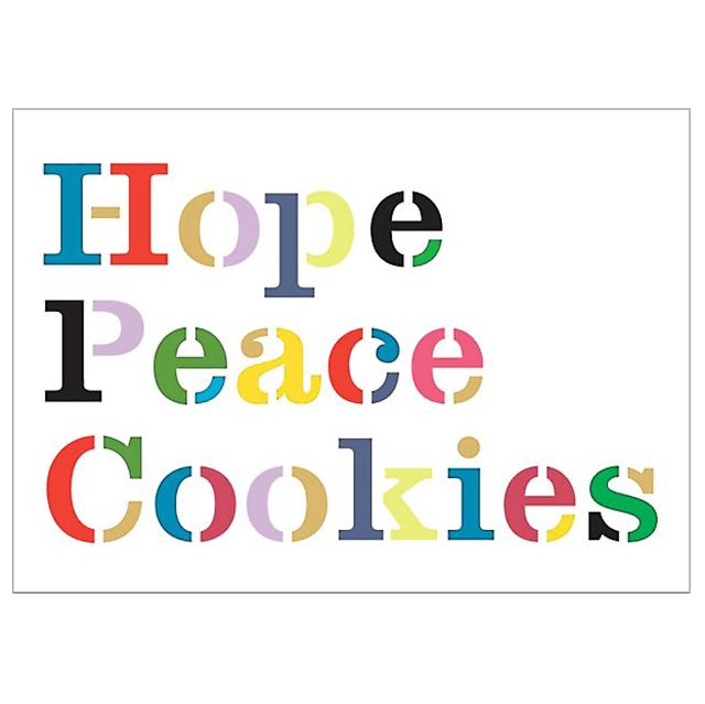 Kate Spade Paper Source Hope Peace Cookies Cards