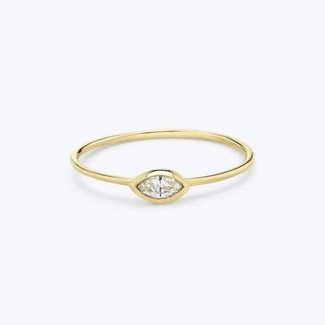 Vrai Marquise Diamond Bezel Ring