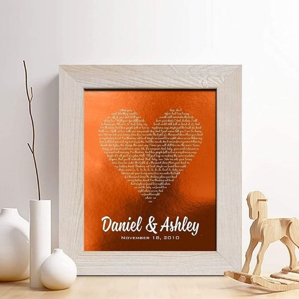 Chudoff Personalized Copper Foil Print