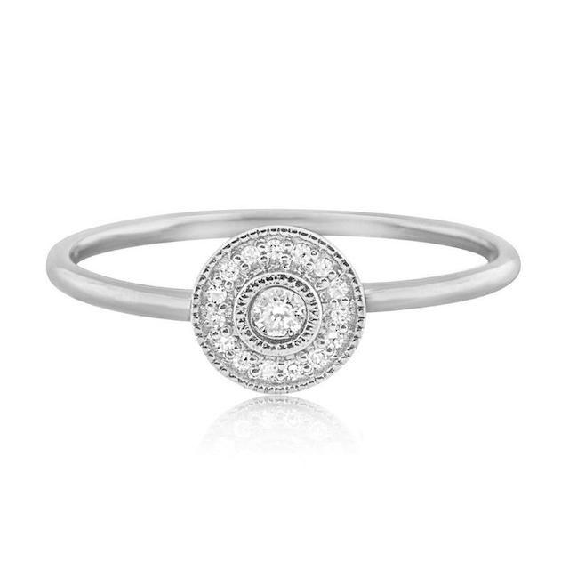 J. Luu Pavé Diamond Halo Ring