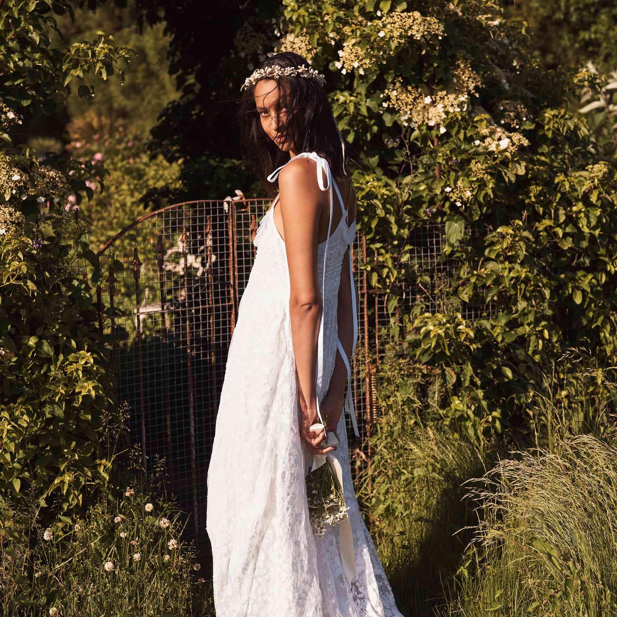 bridal separates two piece wedding dress Bach wedding dress simple wedding dress bohemian wedding dress boho wedding dress wedding top