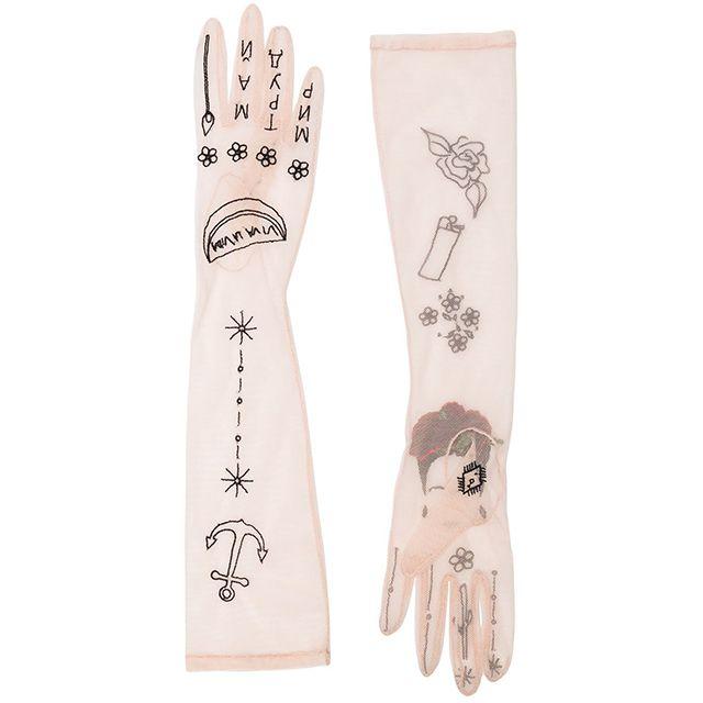 Tender and Dangerous Frida Kahlo Embroidered Gloves