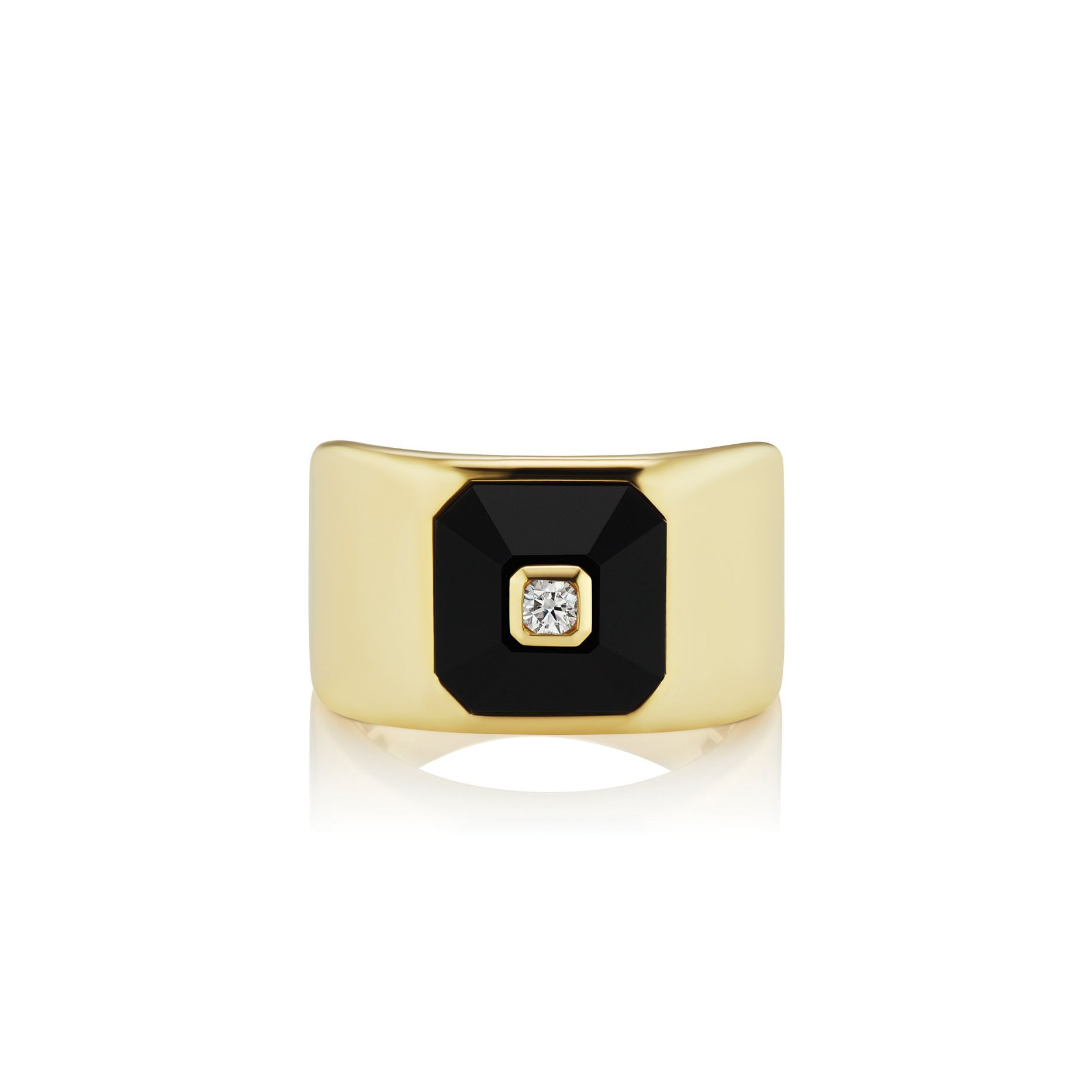 Maria Canale Pyramide Statement Onyx Ring
