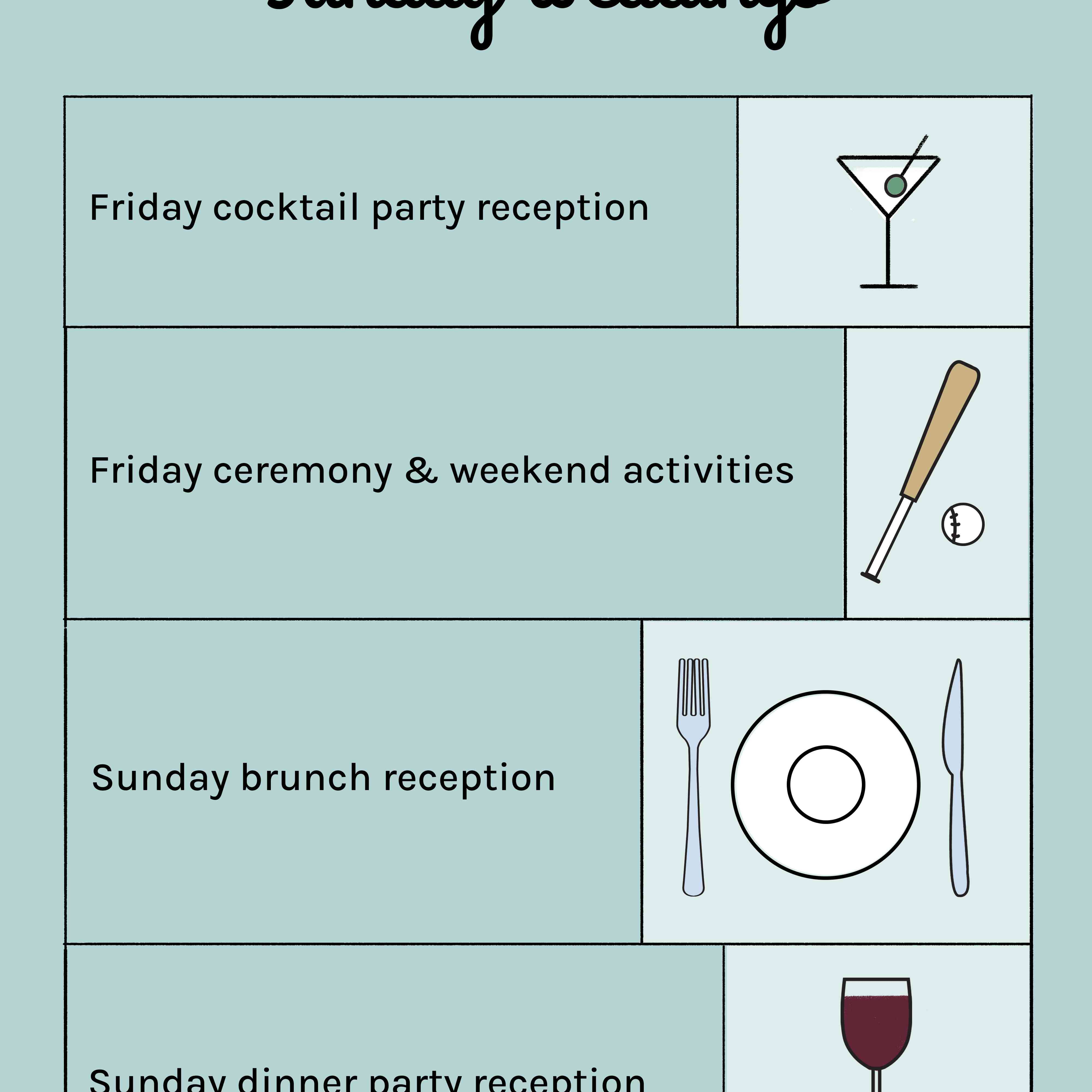friday and sunday weddings