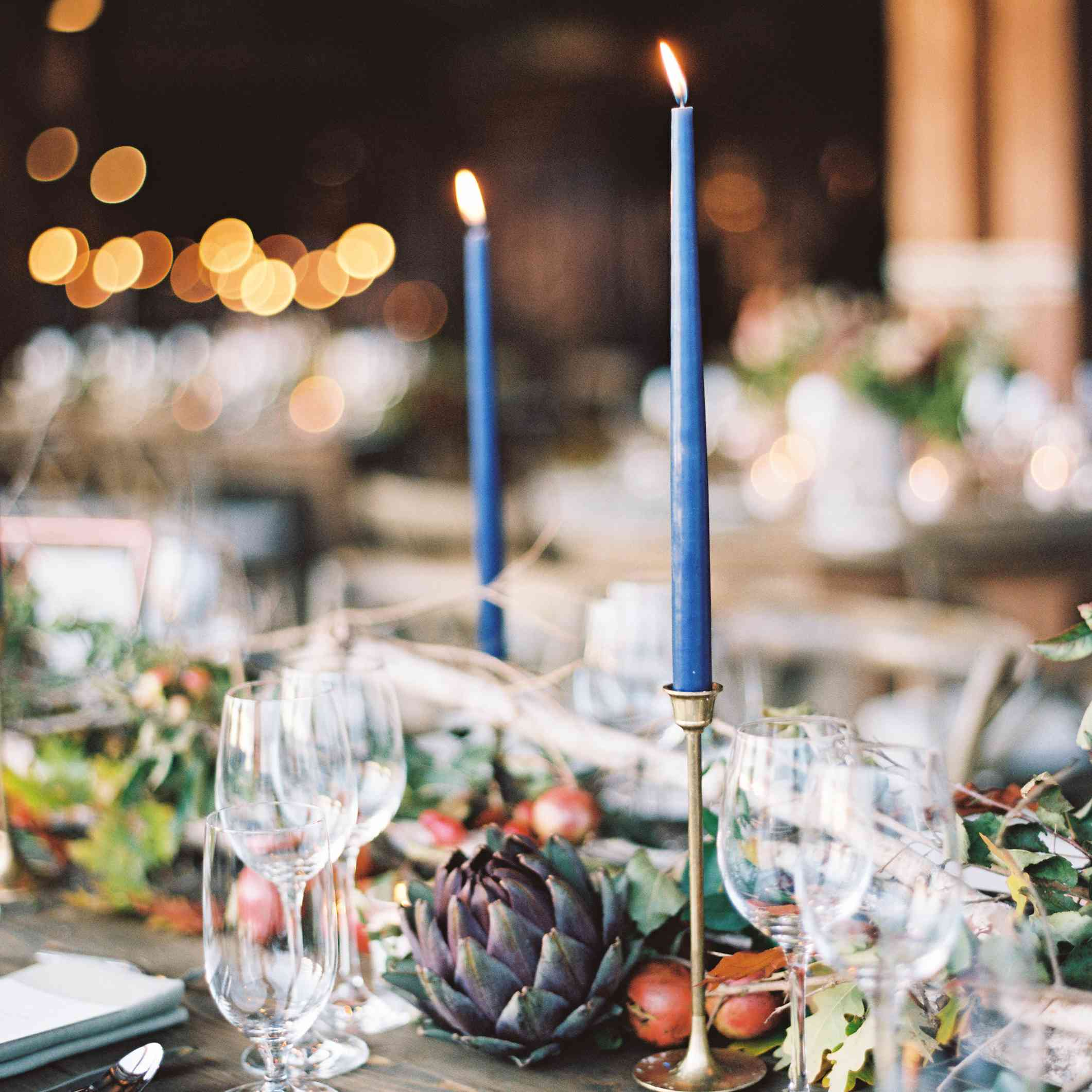 Candles table centerpiece