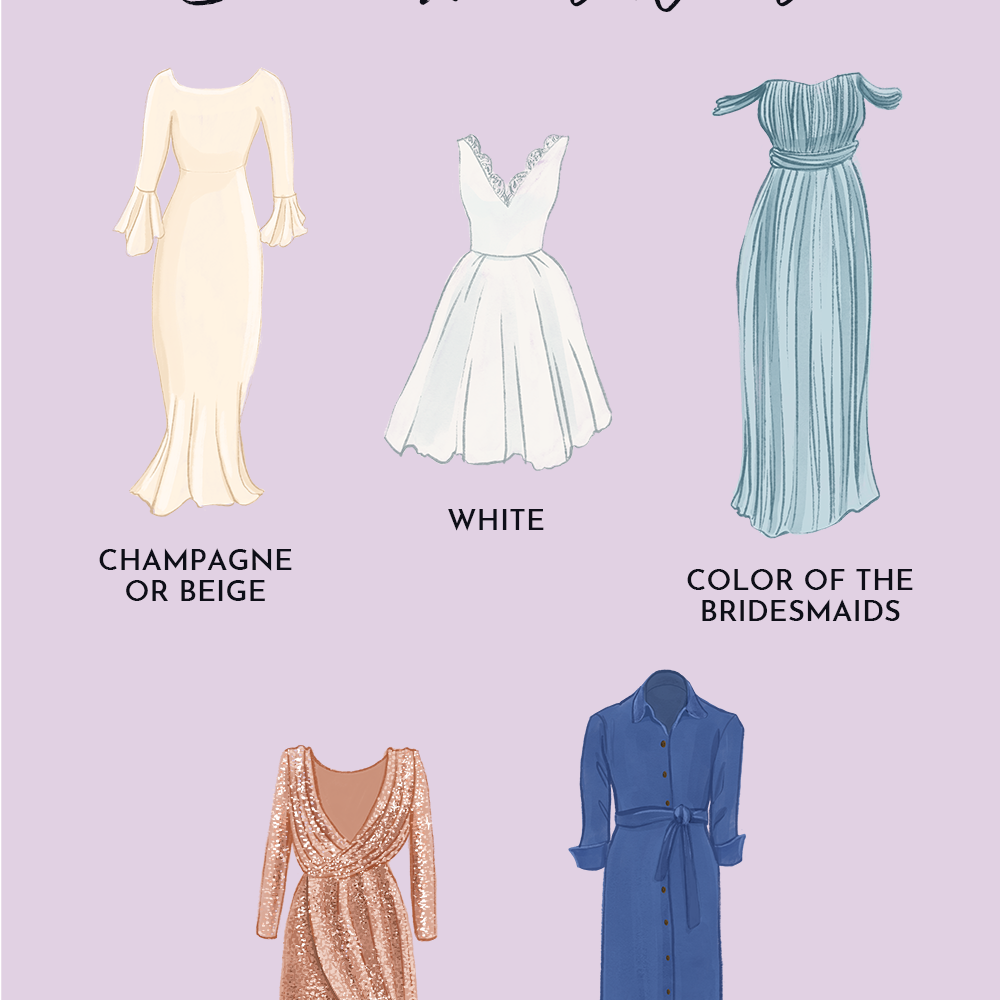 5 Colors to Avoid Wearing as a Wedding Guest