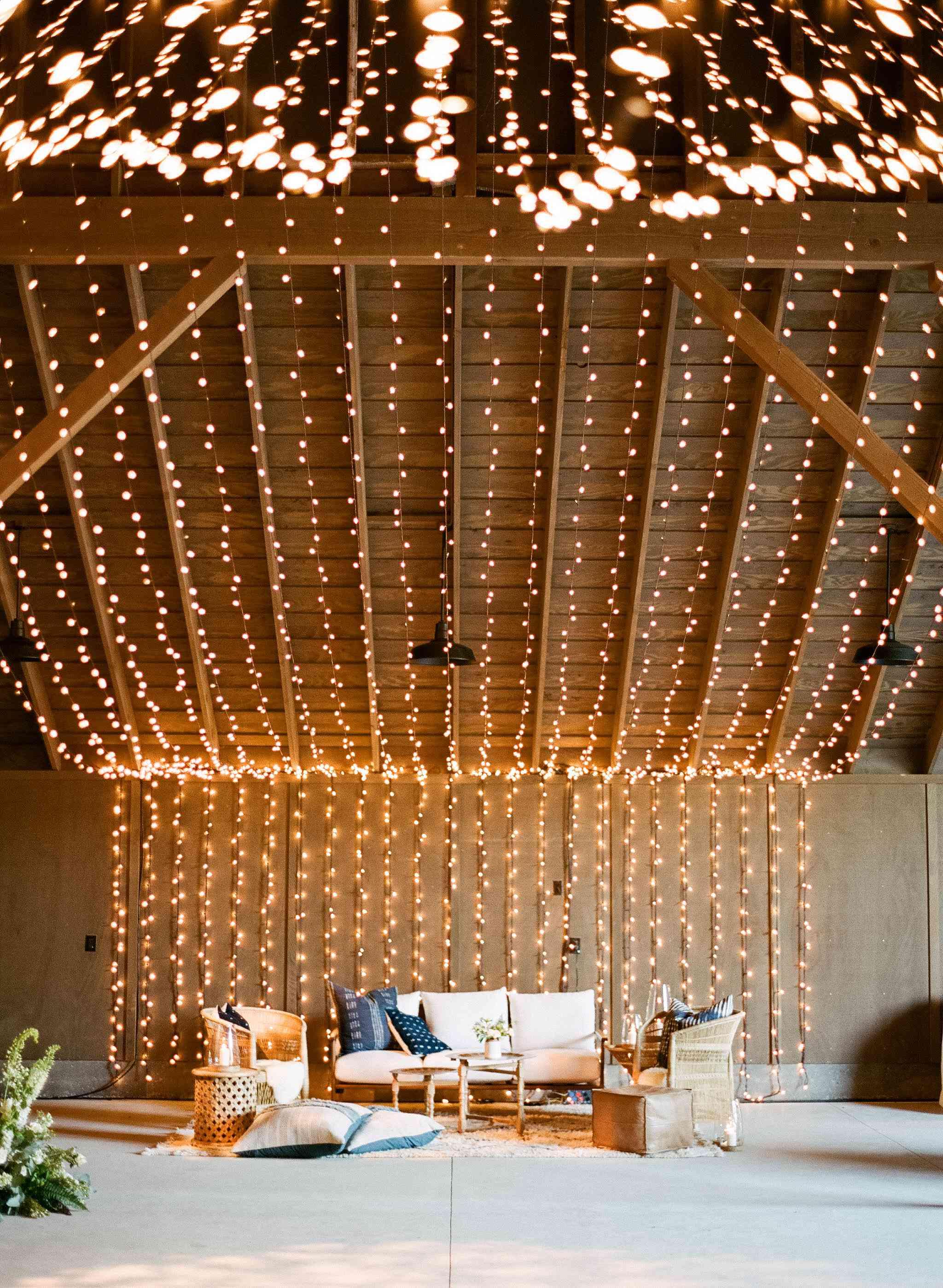 lights in barn