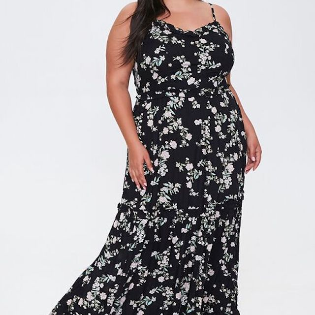 Forever 21 Plus Size Floral Maxi Dress, $35, on sale $24.50