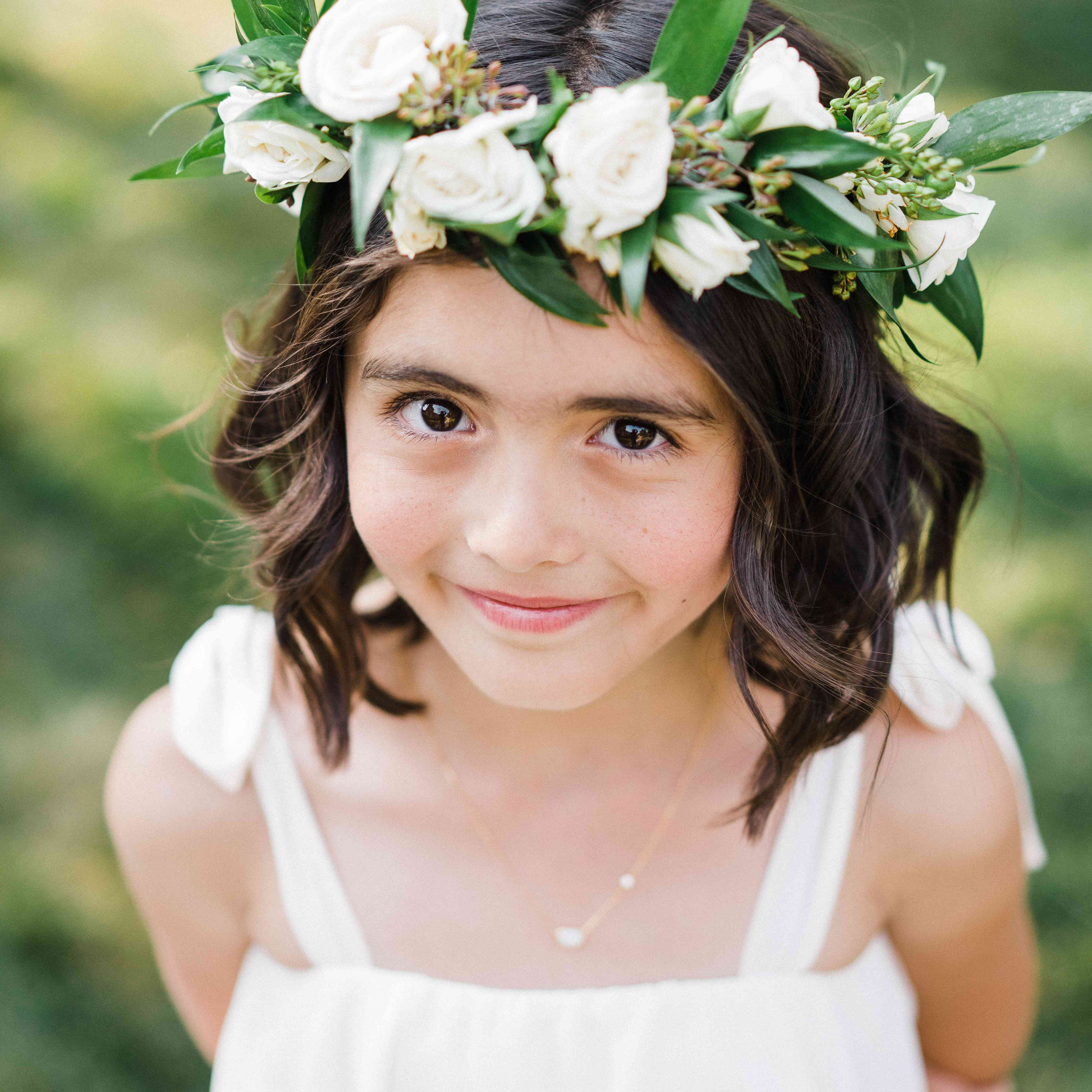 <p>Flower girl with flower crown</p><br><br>