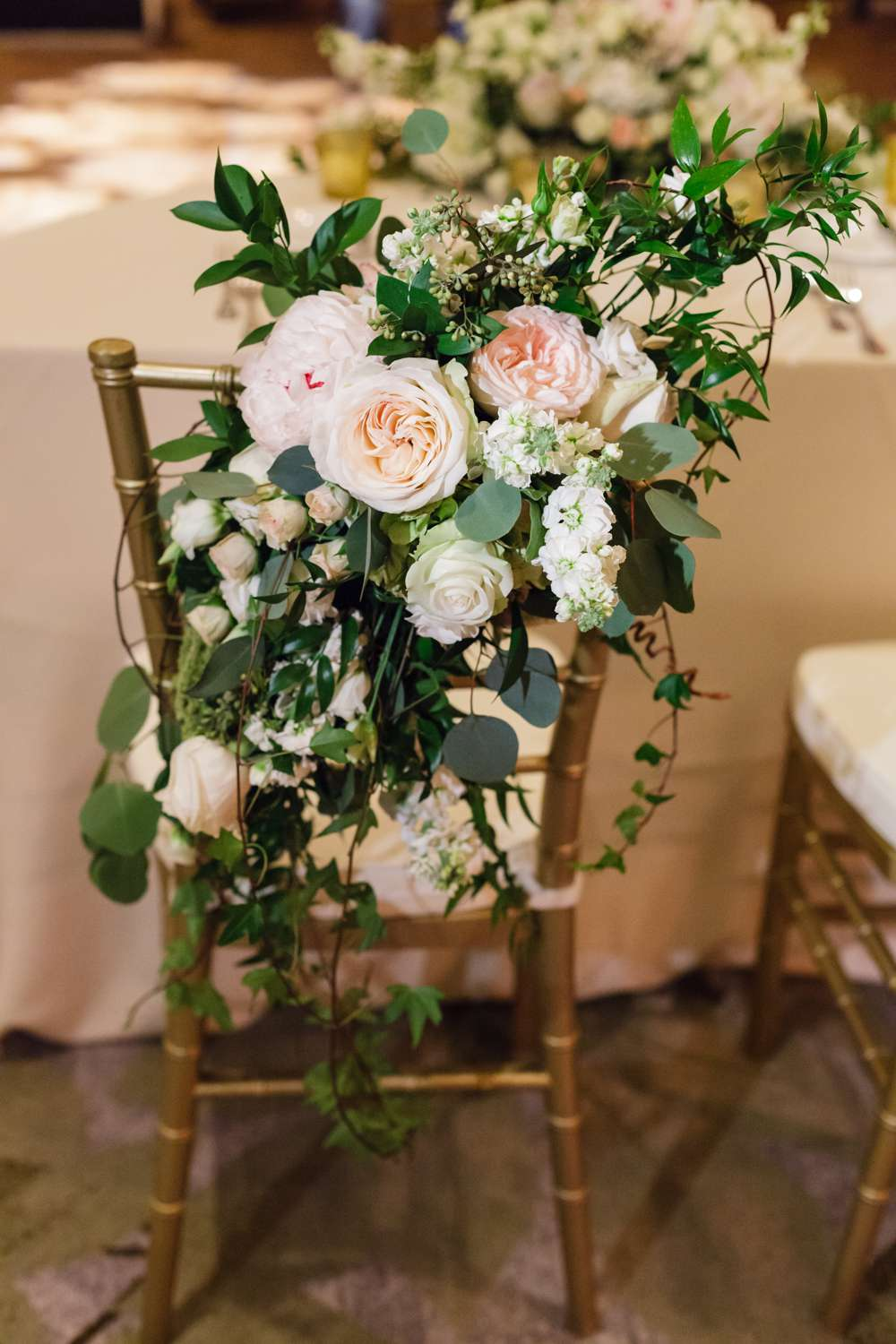 <p>Chair covered in flowers</p><br><br>