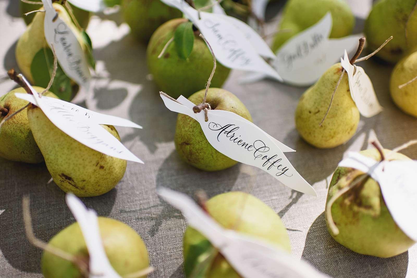 Pear escort cards