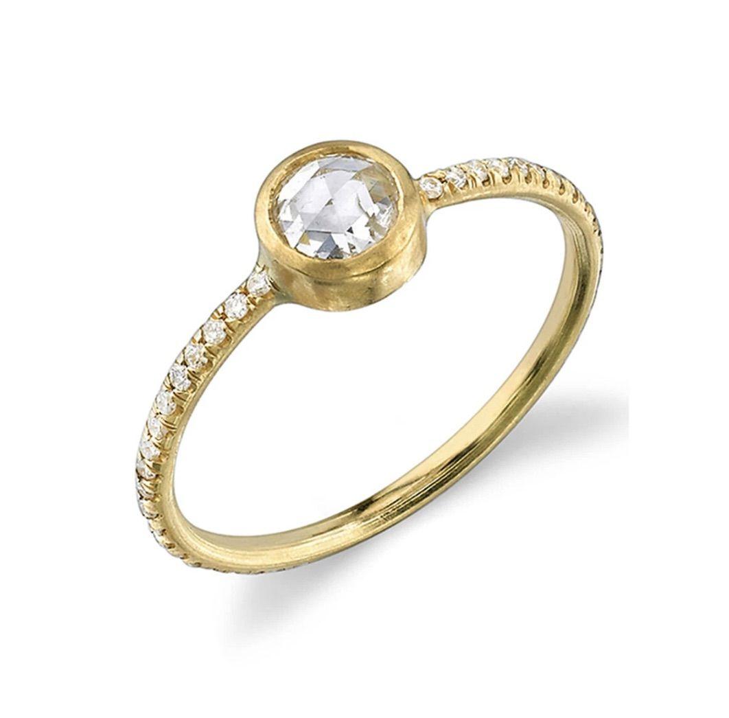 Irene Neuwirth Rose Cut Diamond Yellow Gold Ring
