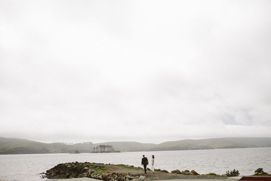 Bride and Groom at Nick's Cove