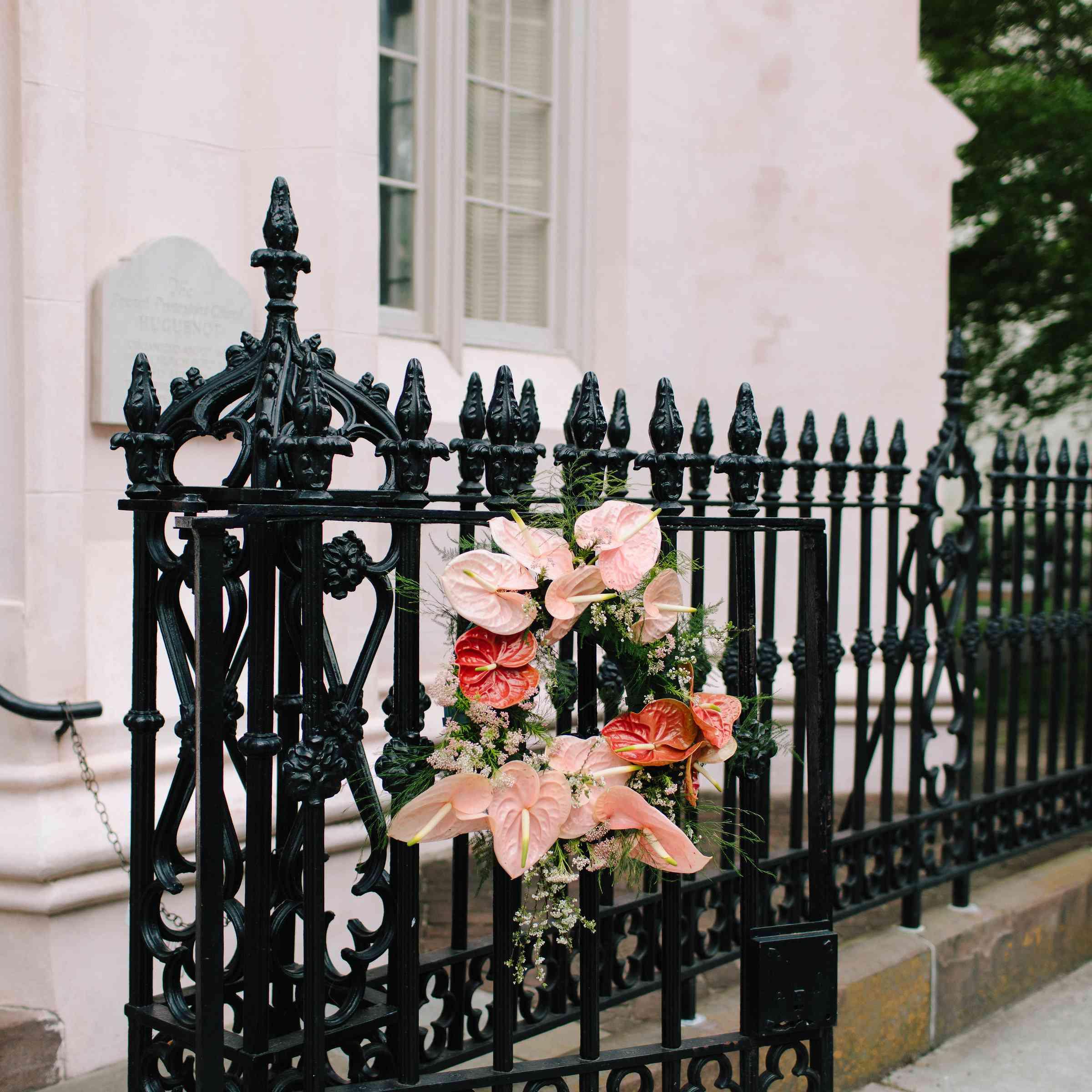 anthurium wedding wreath