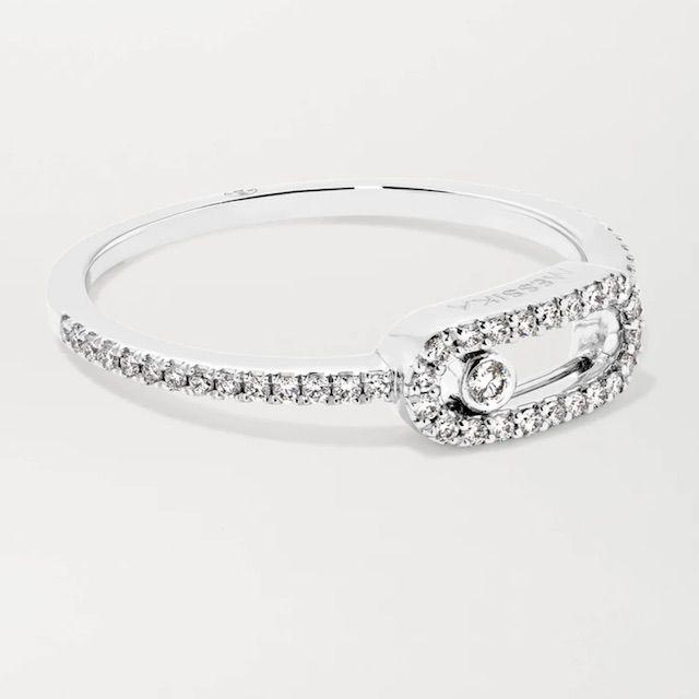 Net-A-Porter Messika Move Uno 18-Karat White Gold Diamond Ring