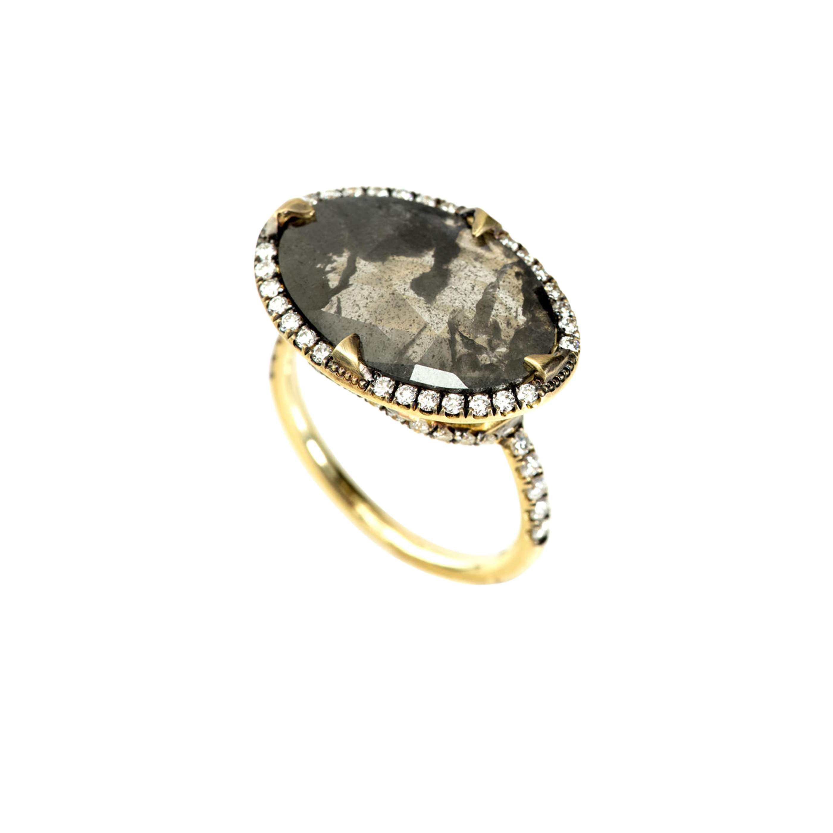 SYLVA & CIE 18K Yellow Gold Rough Diamond Ring