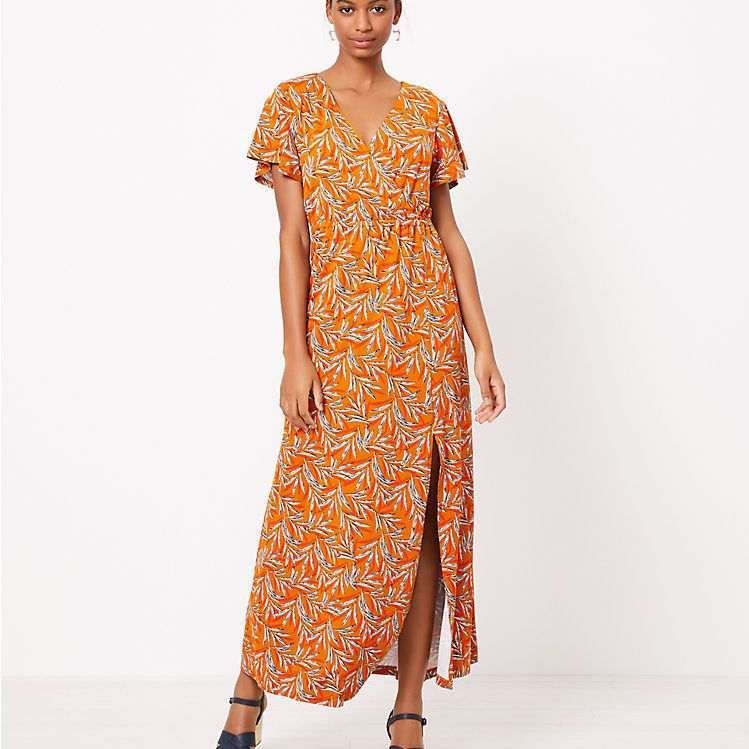 LOFT Beach Wrap Maxi Dress