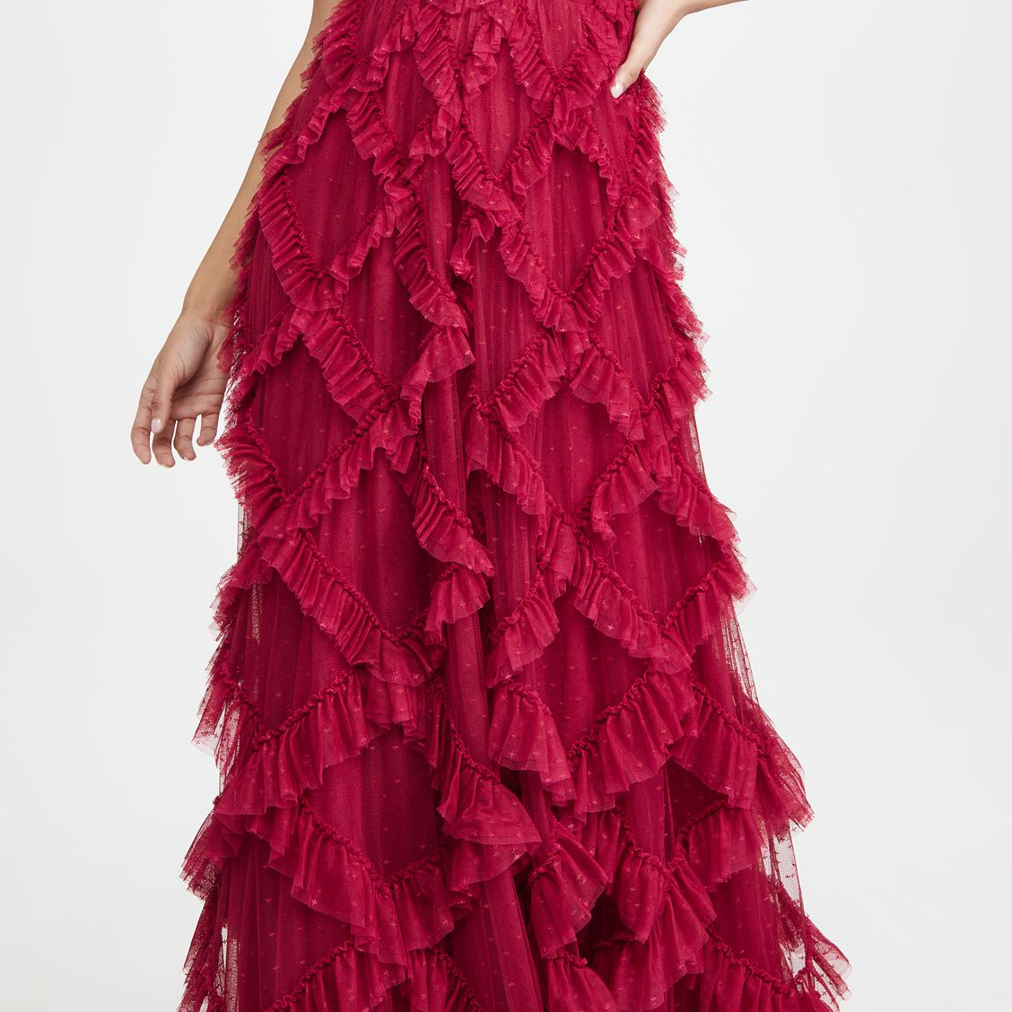 Needle & Thread Genevieve Ruffle Gown, $669