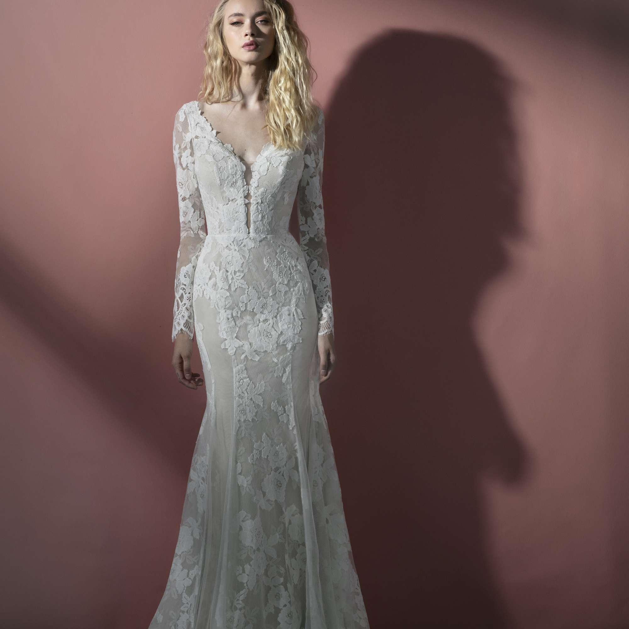 Miles long sleeve lace wedding dress