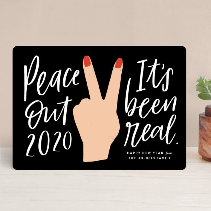 Minted Peace Out Holiday Card