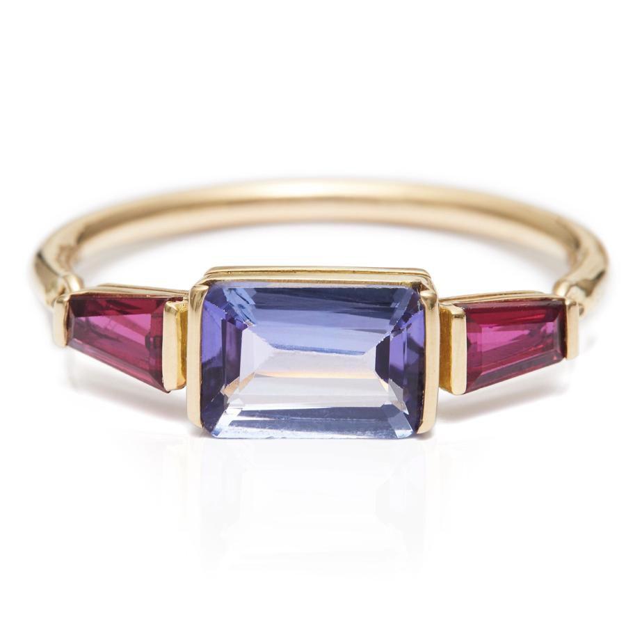 Tanzanite & Ruby Ring
