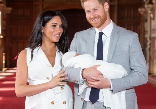 Meghan Markle and Prince Harry with their baby