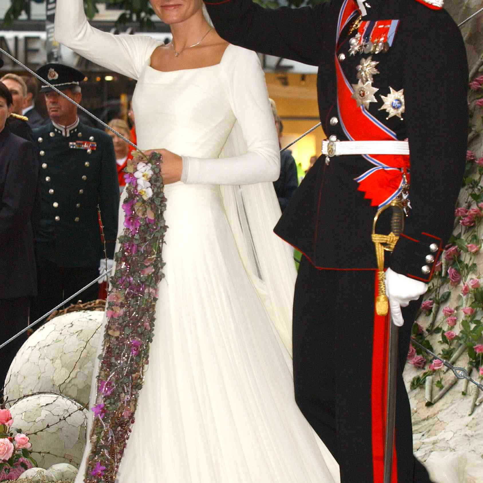 Prince Haakon and Mette-Marit at their wedding