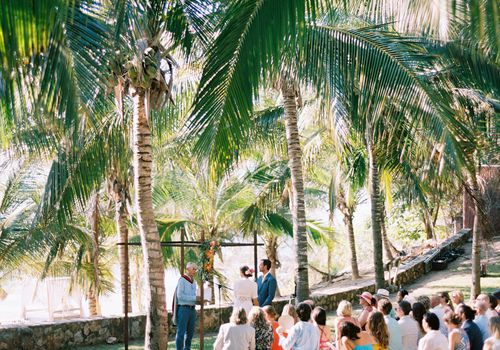 Tropical wedding ceremony venue