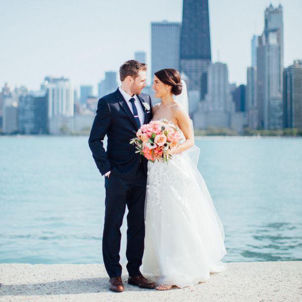 <p>Bride and Groom Skyline Portrait</p>