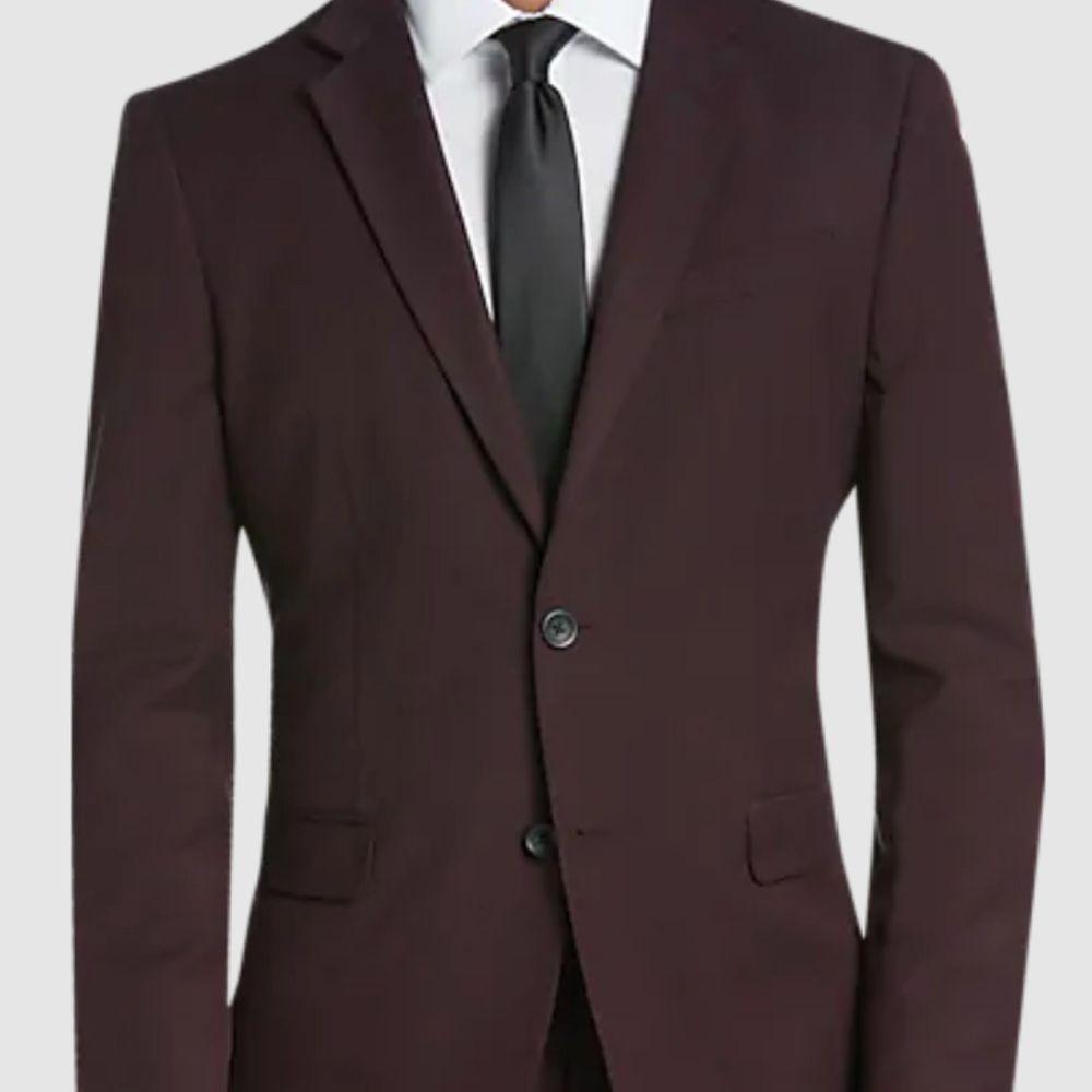 dark burgundy suit