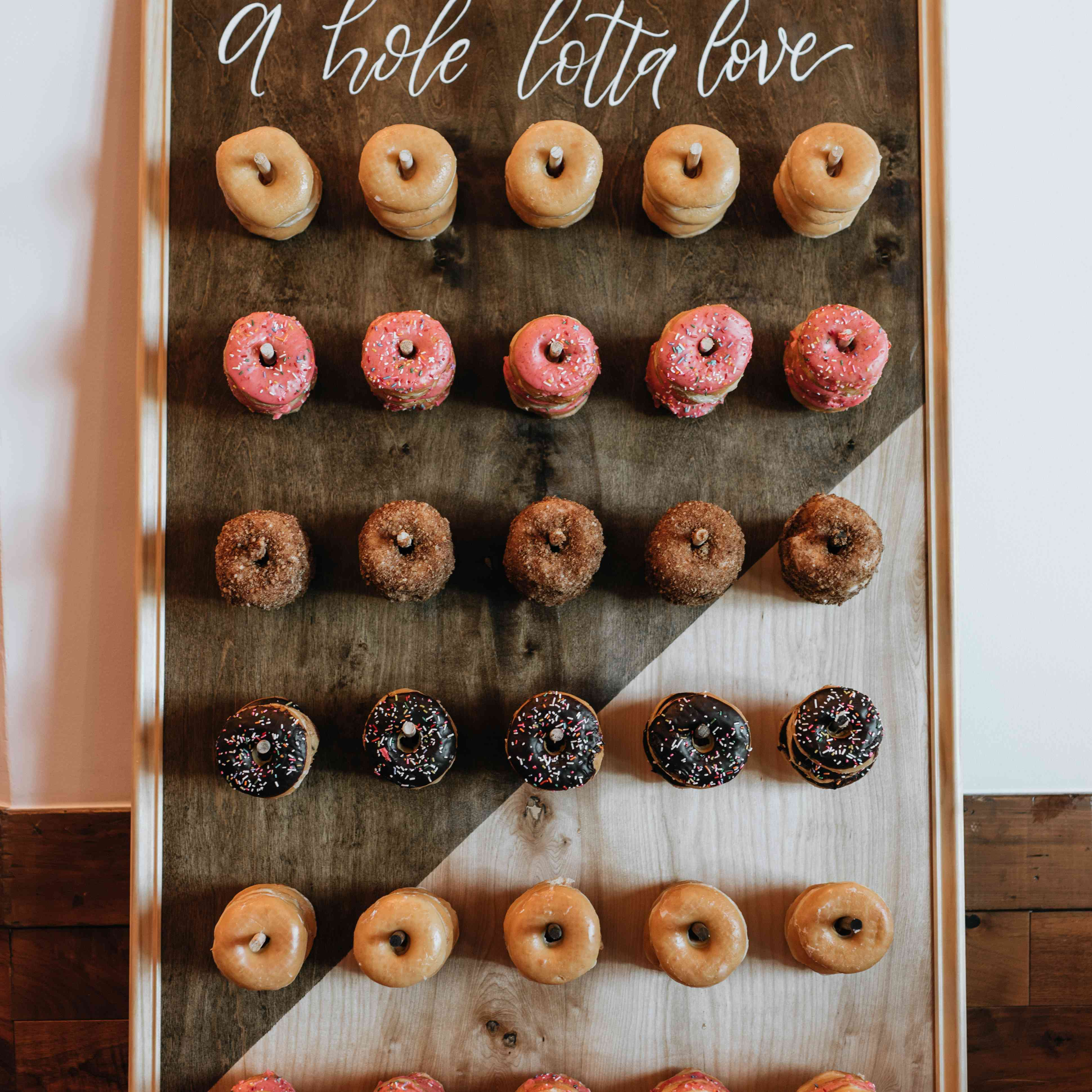 Donut Mind If I Do Donut Wall from Tawni + Troy's Lake Tahoe Wedding