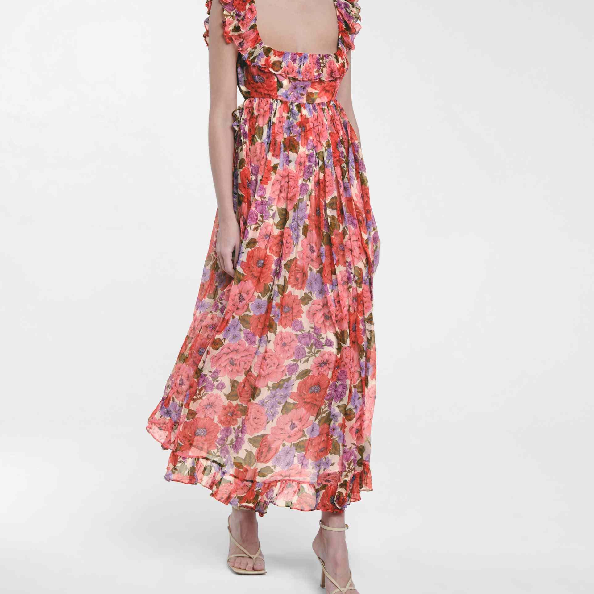 Zimmermann Poppy Floral Silk Midi Dress, $1,150