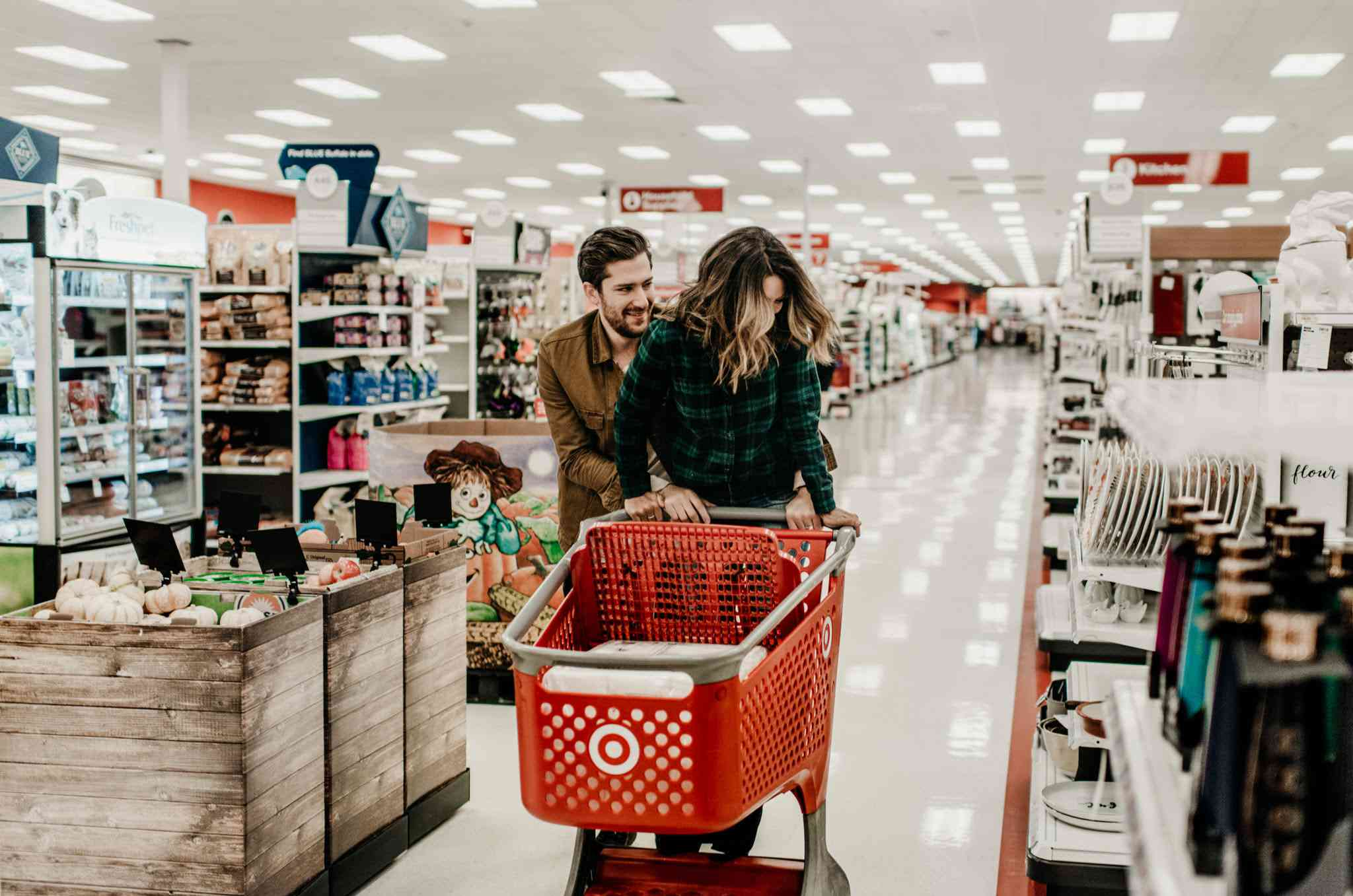 Couple at Target store