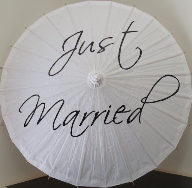 Just Married Wedding Parasol Umbrella