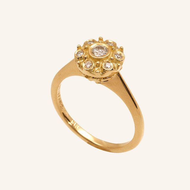 Donna Distefano Diamond Betty Sunflower Engagement Ring