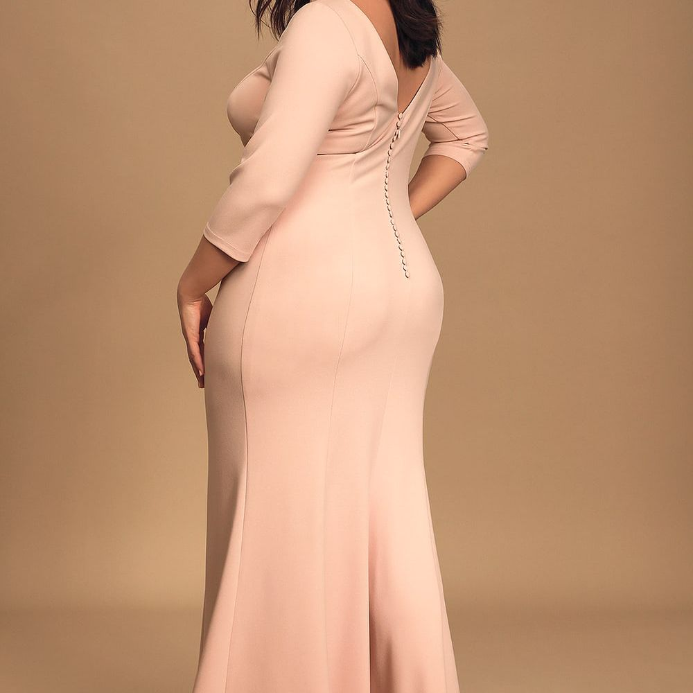 Lulus Glamour Galore Blush Pink Button Back Maxi Dress $96