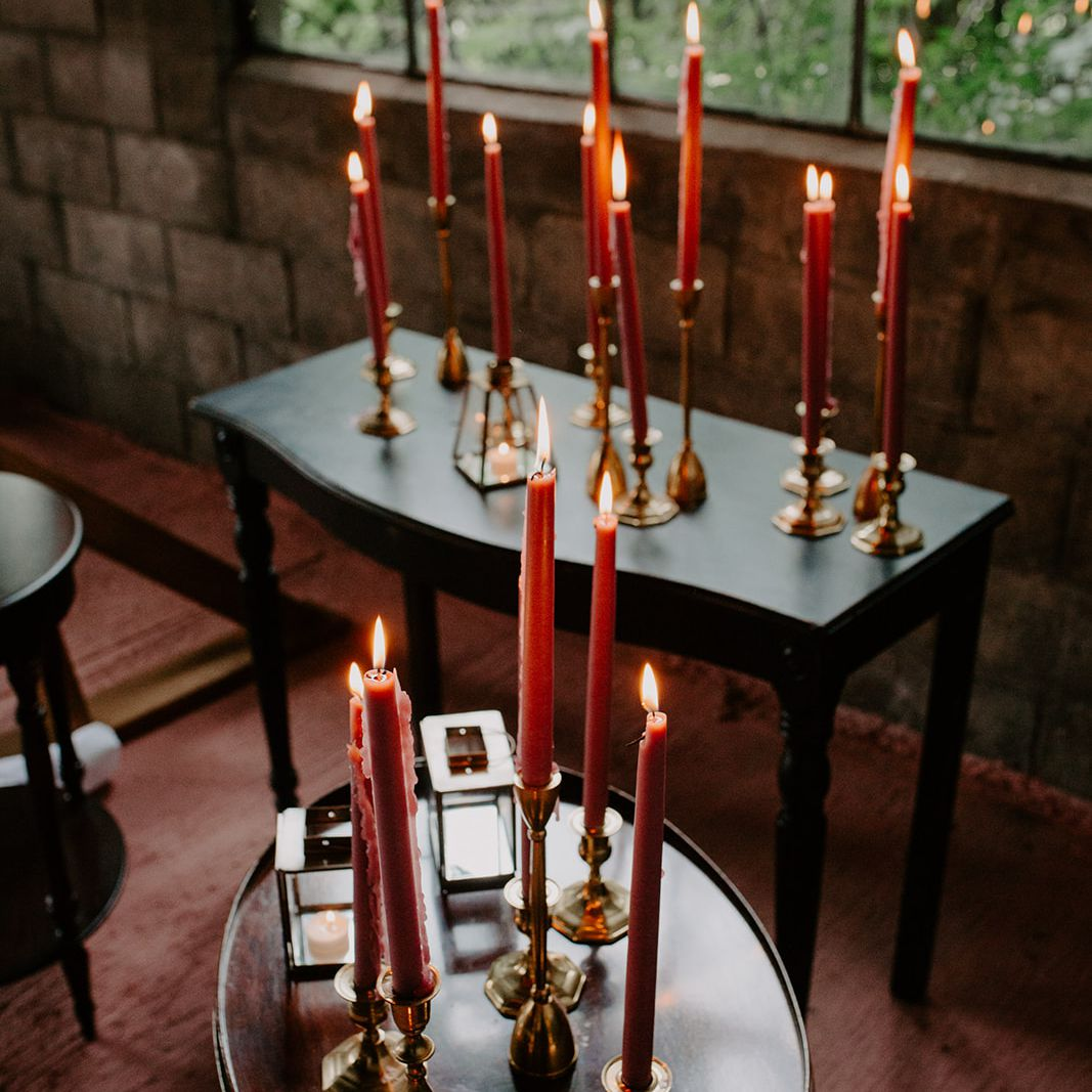 tapered candle decor