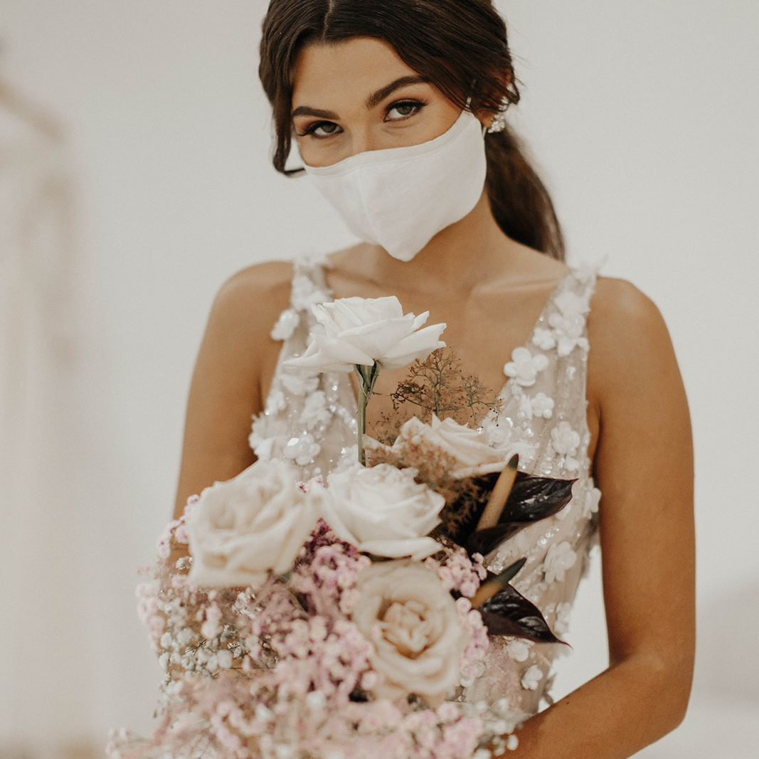bride with mask