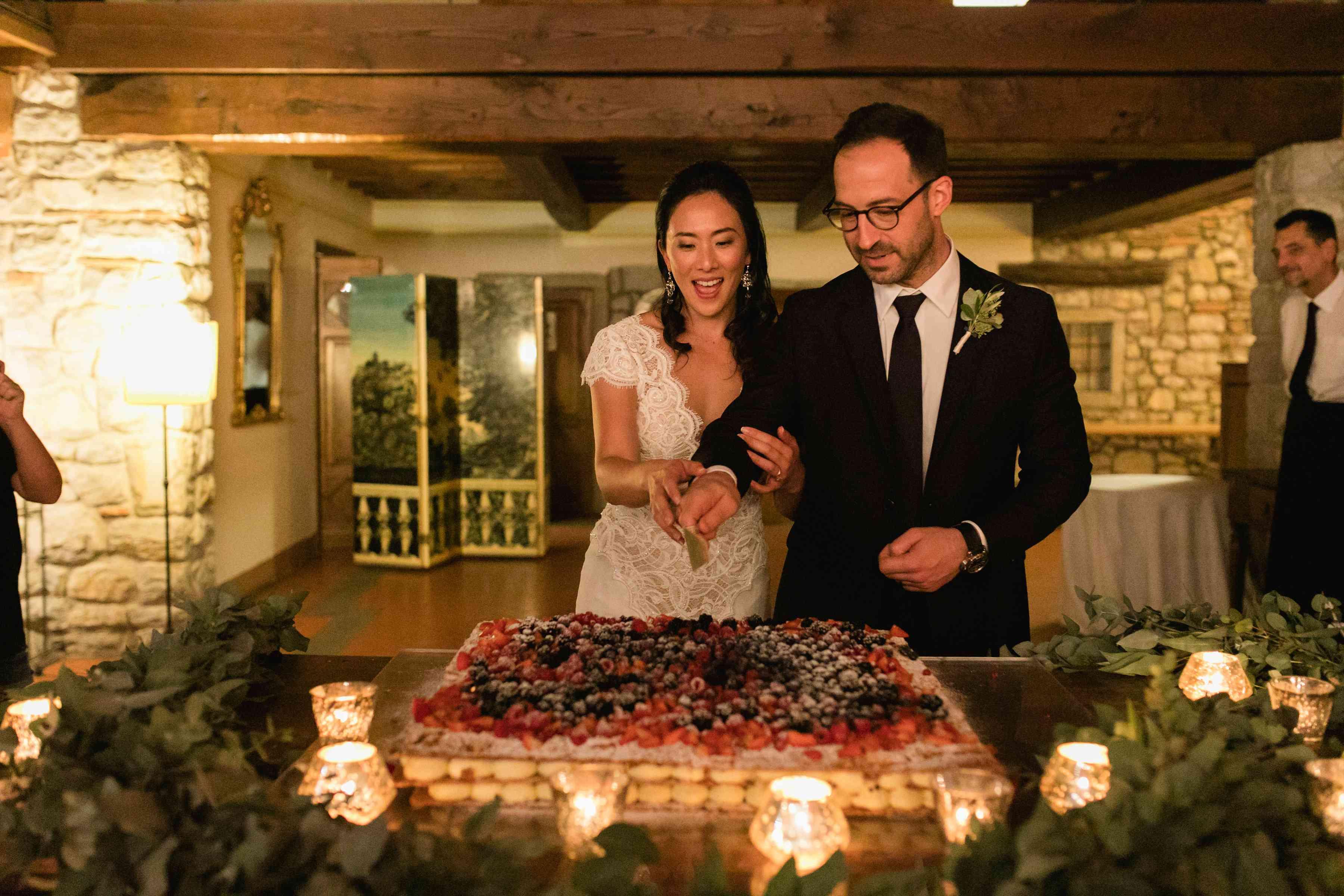 Italian wedding cake millefeuille