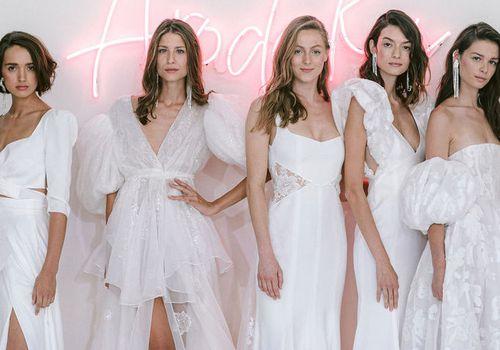 wedding dresses on models