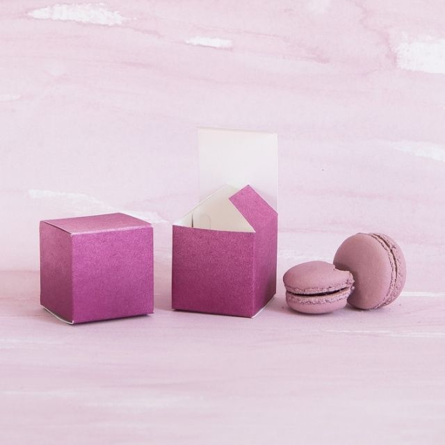 Minted Merlot Dip-Dyed Favor Boxes
