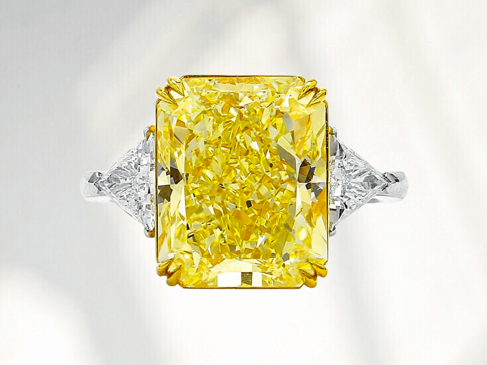 2 Ct Radiant Canary Yellow Ring Radiant Diamond Engagement Ring Round Diamond Ring Radiant Cut Ring Double Halo Diamond Wedding Ring