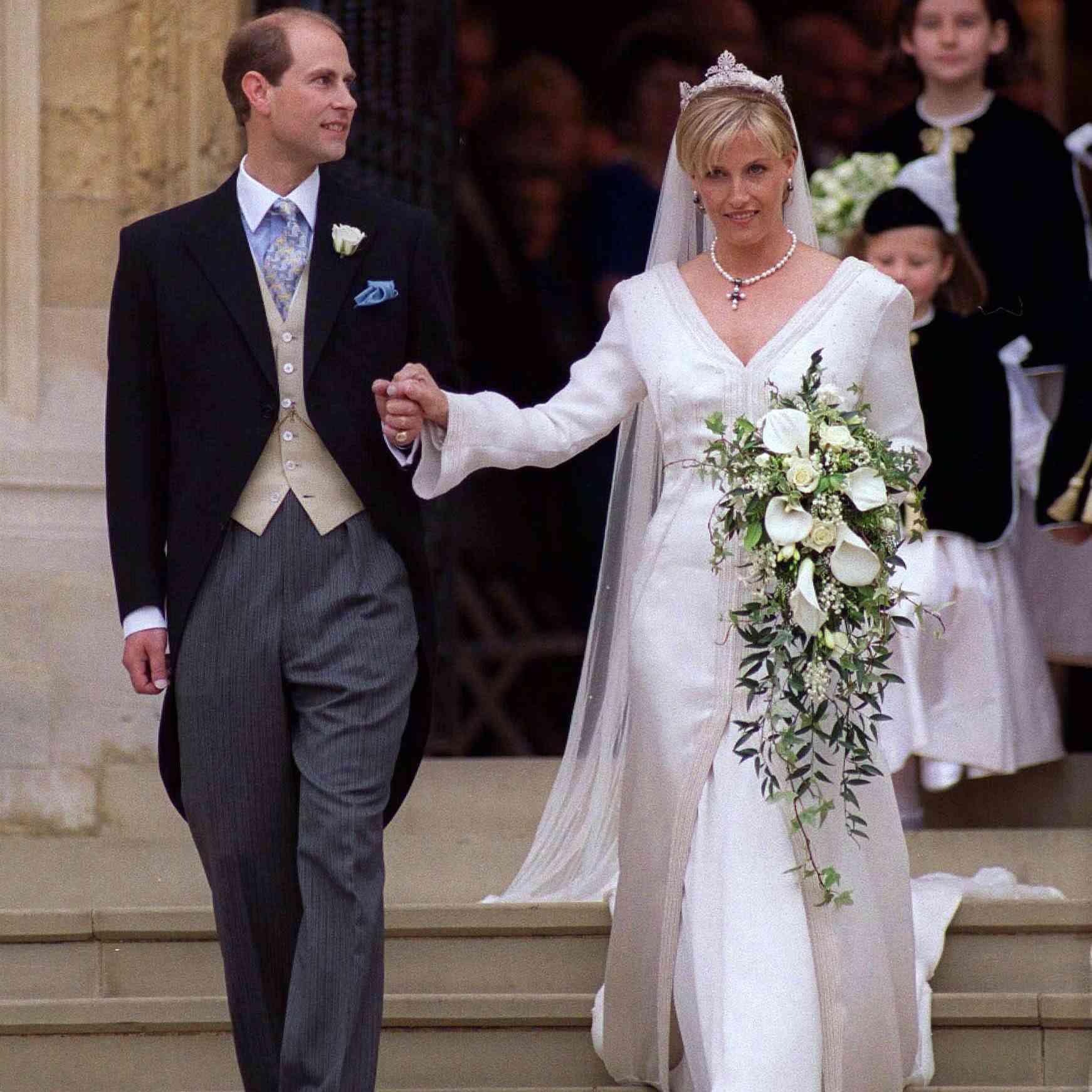 Prince Edward And Sophie Rhys-Jones on their wedding day