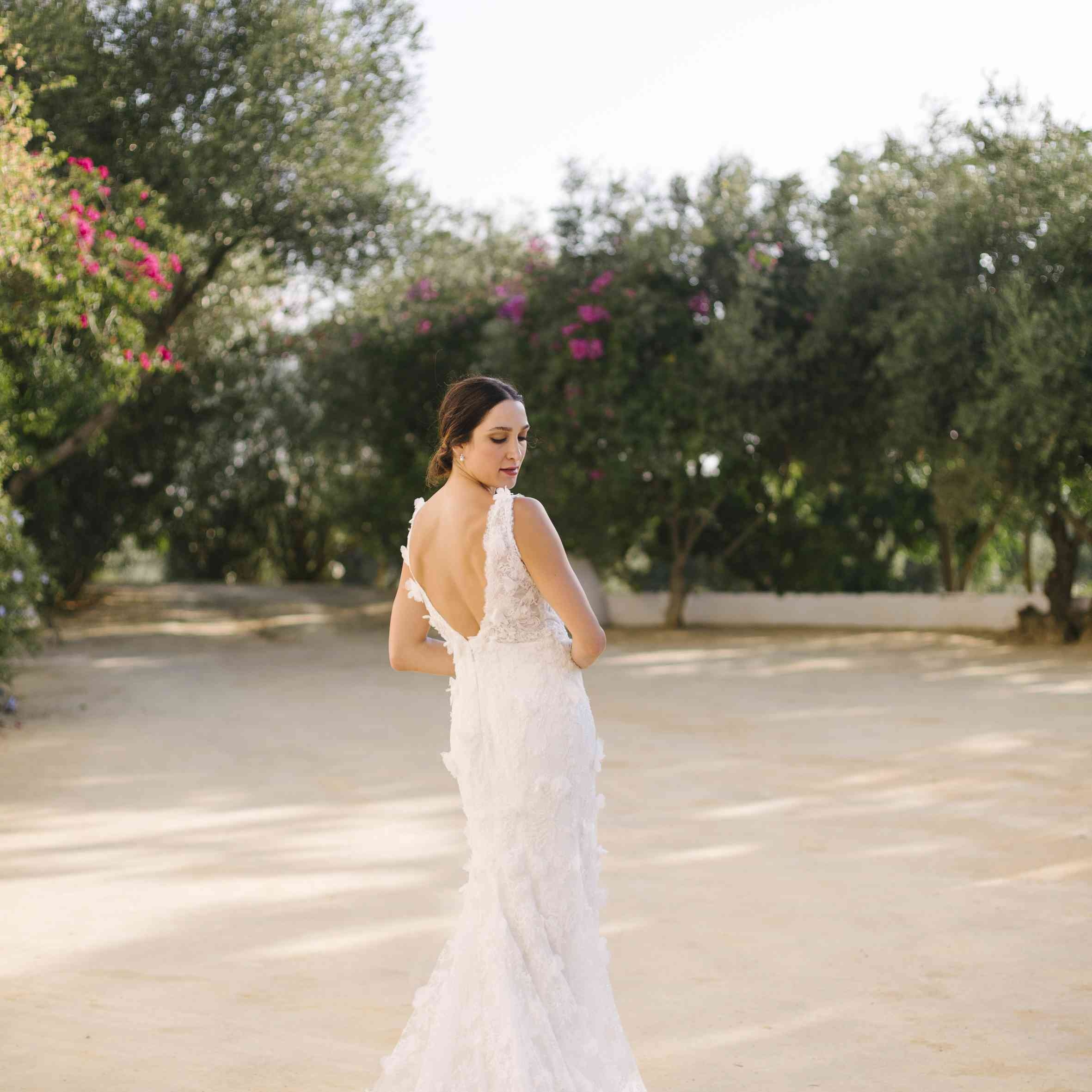 Solo shot of bride in gown
