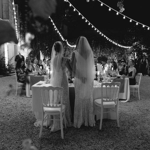 <p>wedding reception sweetheart table</p>