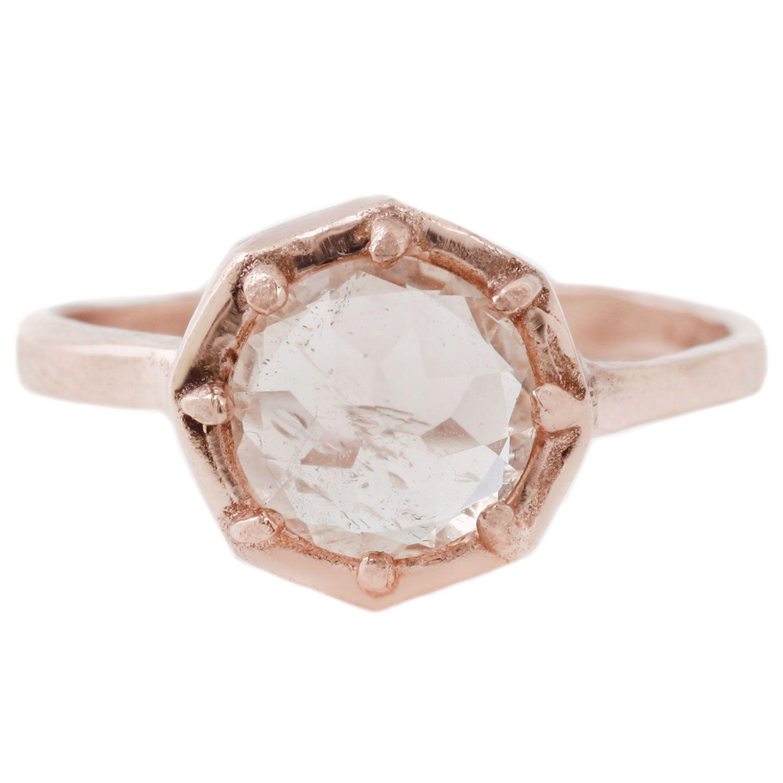 Lauren Wolf Morganite Octagon Ring